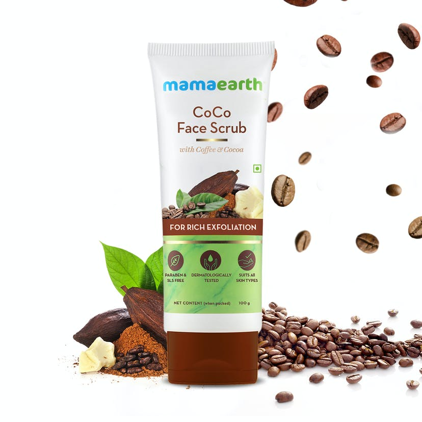 CoCo Face Scrub with Coffee & Cocoa for Rich Exfoliation