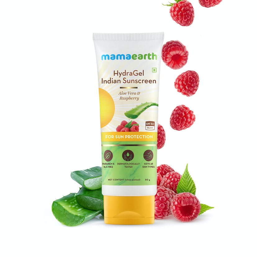 HydraGel Indian Sunscreen with Aloe Vera & Raspberry for Sun Protection
