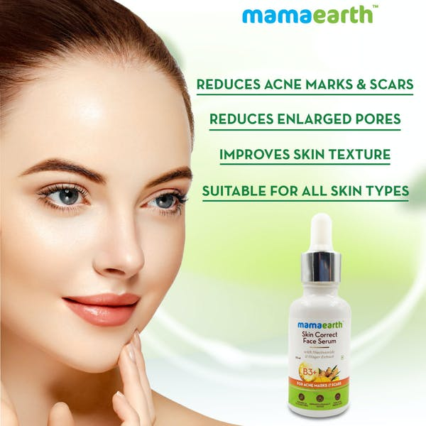Face Serum | Acne Marks & Scars Serum | Organic Products | Mamaearth