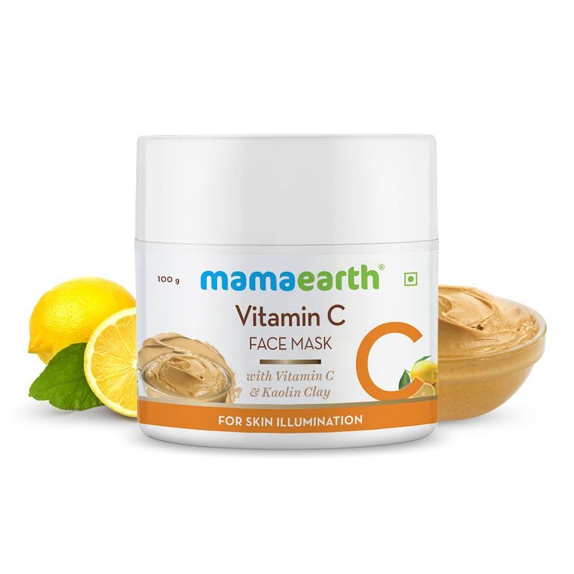 Vitamin C Face Mask With Vitamin C & Kaolin Clay for Skin Illumination